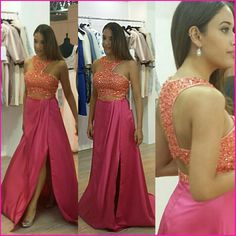 We at Bella Grace Event Dresses absolutely love a stunning 'two-piece' and bright colours! So imaging our excitement when we found this gem, the perfect combination off just what we love!! Perfect for prom 2017! Available to pre order. info@bgeventdresses.co.uk