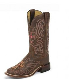 Tony Lama San Saba Tan Navajo with Cross & Wings Stitching Cowgirl Boots - Footwear
