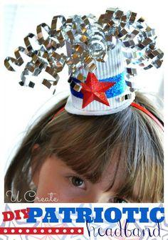 DIY Patriotic Headband with Mini Hat