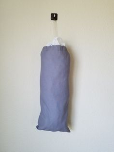 Simple Solid Gray Grocery Bag Holder
