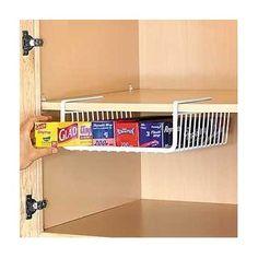 Amazon.com: Under Shelf Wrap Rack in WHITE model 1983W from Organize It All: Patio, Lawn & Garden
