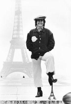 Elton John by the Eiffel Tower in Paris Tour Eiffel, Music Icon, My Music, Queen David Bowie, Bernie Taupin, Captain Fantastic, Taron Egerton, Man Ray, Its A Wonderful Life