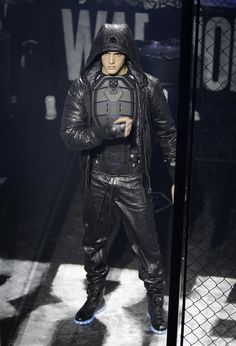 A model wears a creation for Philipp Plein men's Fall - Winter 2015-2016 collection, part ...