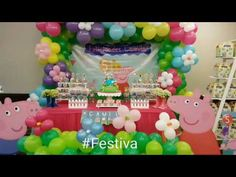 Decoración de Fiesta inspirada en Peppa Pig - Peppa Pig Party | Festiva. - YouTube
