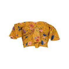 HUDSON OFF THE SHOULDER CROP TOP ❤ liked on Polyvore featuring tops, crop top, off-shoulder tops, yellow top, off-shoulder crop tops, yellow crop top and yellow off shoulder top