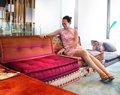 Fabulous Furniture, Lighting, and Accessories. Roche Bobois' classic MAH JONG sofa.