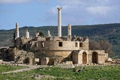 View of the Capitolium in Uthina, Tunisia, photographed by Arnaldo Vescovo.  More at http://archnet.org/collections/962/