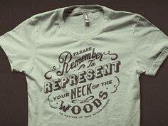 custom typeface t-shirt design