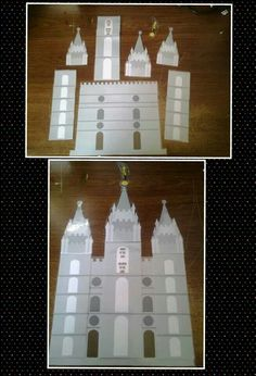 From the primary chorister group on Facebook: build a temple all year.  Learn a song, add a piece to the temple throughout the year.  So cool!