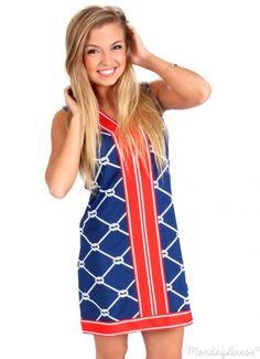 That Summer Feeling Navy Nautical Shift Dress | Monday Dress Boutique