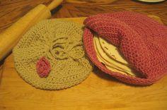 Crochet Tortilla / Bun Keeper and Warmer Happy by AngiesAttic24, $35.00