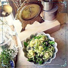 jinnedalsmat.blogspot.com : Zucchinipastasallad med grön dressing