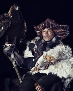 """""""Fine horses and fierce eagles are the wings of the Kazakh"""" by Jimmy Nelson Folklore, Eagle Hunting, Jimmy Nelson, Tribal Costume, Folk Costume, Indigenous Tribes, Horse Gear, My Heritage, Kazakhstan"""