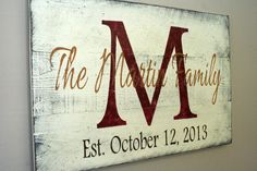Personalized Name Sign Custom Name Sign Family Name Sign Pallet Sign Wedding Gift Housewarming Gift Distressed Wood Shabby Chic Decor