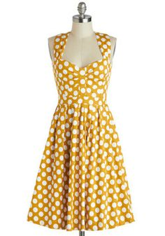 Not only is this mustard (my favorite color) but it also has polka-dots. You can never go wrong with polka-dots! Adorable.