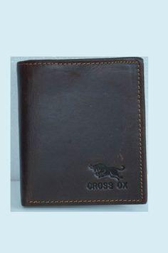 Mens Wallet Dark Brown Bifold Wallet Men Leather Wallet Ox Pattern by SherryJewelry, $21.00