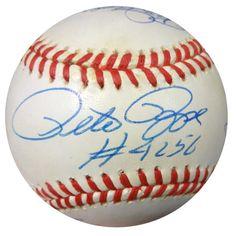 3000 Hit Autographed NL Baseball With 7 Signatures Including Ichiro Suzuki, Hank Aaron, Pete Rose & Isao Harimoto PSA/DNA #AA03713