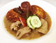 Denné menu Vranov | Dusená kačacia pečeň, tekvicové placky - reštaurácia Hotel Patriot*** #hotel #restauracia #dennemenu