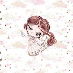 Watercolor Wallpaper Phone, Fairy Wallpaper, Flower Phone Wallpaper, Cool Backgrounds Wallpapers, Cute Cartoon Wallpapers, Baby Girl Clipart, Vintage Floral Wallpapers, Baby Month Stickers, Angel Drawing