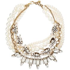 Lulu Frost Lustre Multi-Strand Statement Necklace (834.925 COP) ❤ liked on Polyvore featuring jewelry, necklaces, accessories, jewels, colar, pearl, multi chain necklace, multiple strand necklace, pearl bead necklace and pearl statement necklace