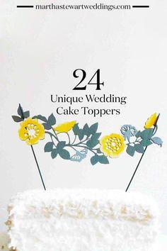 24 Unique Wedding Cake Toppers | Martha Stewart Weddings