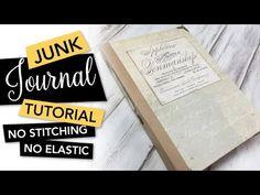 Junk Journal for Beginners Easy DIY - putting it together Blank Journal, Journal Covers, Handmade Journals, Handmade Books, Bookbinding Tutorial, Tape Crafts, Diy Crafts, Album Book, Scrapbook Albums