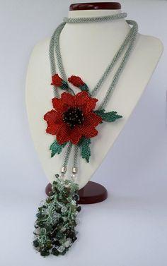 Lariat Poppy by Beadedfireworks on Etsy, $120.00