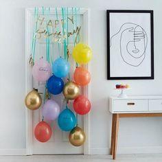 Happy Birthday Foil Balloons, Happy Birthday Bunting, Gold Birthday, Special Birthday, Birthday Morning Surprise, Birthday Celebration, Birthday Balloon Surprise, Birthday Letters, Balloon Door Surprise