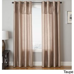 Softline Cosmo Faux Silk Grommet Top Curtain Panel Inches - 54 x 96 - Taupe), Brown (Polyester, Solid) Elegant Curtains, Beautiful Curtains, Window Panels, Panel Curtains, Faux Silk Curtains, Pleated Fabric, Exterior Design, Interior And Exterior, Curtain Styles