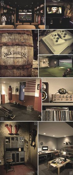 Awesome basement man cave ideas, except the boxing gym... THATS MINE!