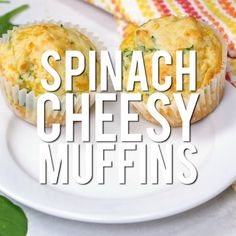 cheese muffins These spinach cheesy muffins are great for breakfast or lunchboxes. It's is my all time favorite savory muffin recipe!These spinach cheesy muffins are great for breakfast or lunchboxes. It's is my all time favorite savory muffin recipe! Muffin Recipes, Baby Food Recipes, Breakfast Recipes, Cooking Recipes, Healthy Recipes, Recipe For Savory Muffins, Detox Recipes, Savoury Breakfast Muffins, Savory Muffins Healthy