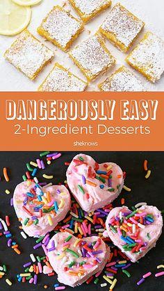 Pin it! Easy 2-Ingredient Desserts