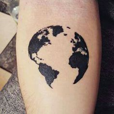 World map pinteres earth tattoo very cool gumiabroncs Gallery