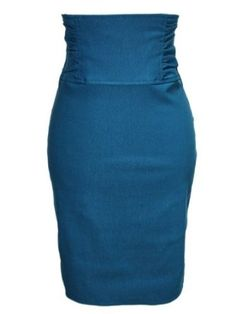 Amazon.com: Gathered High Waist Stretch Pencil Skirt Including Plus Sizes: Clothing