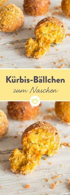 Die hellorangen Kürbis-Bällchen überzeugen mit nussig-buttrigem Geschmack und feinen Aromen von Koriander und Knoblauch.
