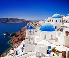 Santorini, Greece: Our pre-marriage honeymoon spot :) Seriously amazing...we would go back in a second!