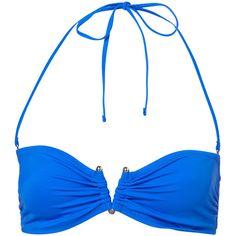 Cobalt Bandeau Bikini Top ($10) ❤ liked on Polyvore