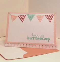 Stampin' Up Geometrical stamp set, easy DIY card with Sweet Sayings notecards. from papermadeprettier (Kay Cogbill)
