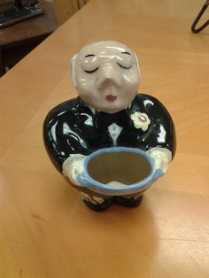 Note to self: perfect housewarming or retirement gift: Ceramic Serving Butler Vase/Planter #Etsy