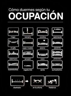 Cómo duermes según tu ocupación.