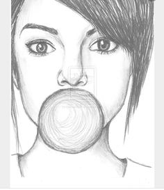 Bubble gum girl sketch