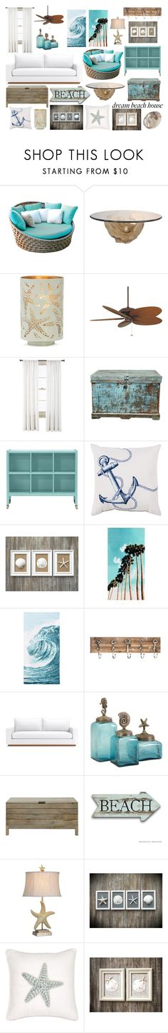 """""""Dream Big Beaches"""" by rochstar8 ❤ liked on Polyvore featuring interior, interiors, interior design, home, home decor, interior decorating, Skyline, Shoreline, Fanimation and Royal Velvet"""