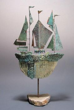 Beautiful boat sculpture.  Fabulous sails. Christina Wiese