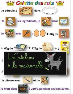 LaCatalane à la maternelle...: Recette : la Galette des Rois Noah, Education, Flat Cakes, January, Multiplication, Onderwijs, Learning