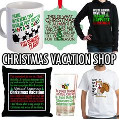 National Lampoon's Christmas Vacation Movie Shop for funny holiday mugs, hilarious t-shirts, hoodies, jackets, drinking glasses, ornaments, pillows, iphone cases and many more humor gifts @ http://www.cafepress.com/quotabletv/11982268