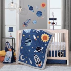 Shop a great selection of Lambs & Ivy Milky Way Space Galaxy Baby Nursery Crib Bedding Set - Blue/Gray. Find new offer and Similar products for Lambs & Ivy Milky Way Space Galaxy Baby Nursery Crib Bedding Set - Blue/Gray. Nursery Crib, Baby Crib Bedding, Crib Sheets, Boy Nursery Bedding Sets, Dorm Bedding, Baby Boy Nurseries, Baby Cribs, Baby Rooms, Blue Bedding Sets