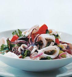 Calamari Salad by Gourmet via epicurious #Salad #Calamari