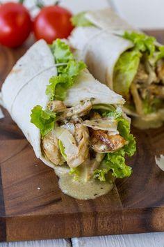 The perfect Chicken Caesar Salad wrap for a lunch option! #chickencaesarwrap #caesarsalad