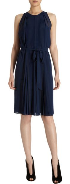 DVF Ria Halter Dress-- perfect LBD..only it's navy. Great shape.