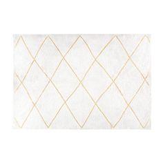 Tapis berbère en coton écru et doré 160x230 | Maisons du Monde
